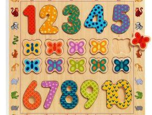 Djeco Ξύλινο σφήνωμα παιδιά και αριθμοί