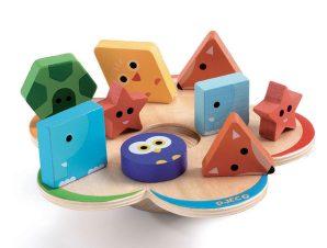 Djeco Basic παιχνίδι ισορροπίας 'Χρώματα – σχήματα'- FSC MIX
