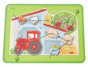 Haba παιχνίδι σύνθεσης εικόνας με κορδόνι 'Η φάρμα'