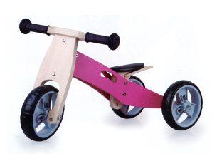Zenit Ξύλινο Τρίκυκλο Ποδήλατο Ροζ